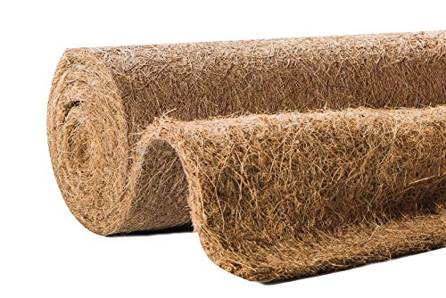 Windhager Kokos-Filzmatte, Kokosmatte, Frostschutz, Kälteschutz, Winterschutz für Pflanzen und Topfpflanzen, zum Überwintern kälteempfindlicher Pflanzen, 0,5 x 1,5 m, braun, 06588