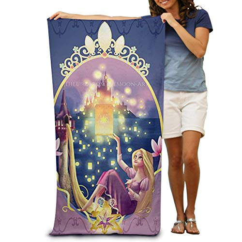 FSTGF Rapunzel Princess (2) Toalla de Playa de algodón de 31 x 51 Pulgadas