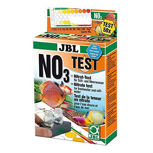 JBL- NO3 Nitrat Test Schnelltest zur Bestimmung des Nitratgehalts in Süß-/Meerwasser Aquarien & Teichen