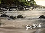 Rock and sand Beach Guestbook - Welcome be our guest: 8.25 x 6 inch size Vacation Guest Book to Sign In, Airbnb, Guest House, Hotel, Bed and ... Cabin (Vacation on the Beach : Guest Book.)