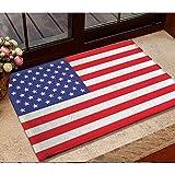 N/A Felpudo Entrada Impreso en 3D Alfombrilla Antideslizante de Franela con Bandera de EE. UU. Alfombras con Bandera de América alfombras de Dormitorio alfombras Decorativas para el hogar-50X80CM