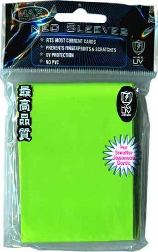 Max Protection YuGiOh Flat Gaming Card Sleeves, Flat Lime Green, 60 Count