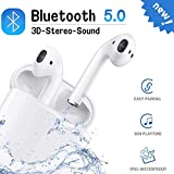 Bluetooth 5.0 Earbuds, in-Ear Micphone, with Charging Case, 24H Playtime, Touch Control, IPX5 Waterproof, 3D Stereo Sound, Noise Canceling, Pop-ups Auto Pairing for iPhone Airpods/Android