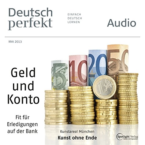 Deutsch perfekt Audio - Auf der Bank. 5/2013 audiobook cover art