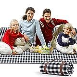 Zorin Picknickdecke 200 x 200 cm(79'x 79') Stranddecke wasserdichte Schnelles Trocknen Picknick...