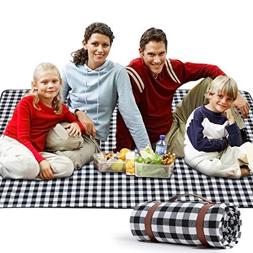 """Zorin Picknickdecke 200 x 200 cm(79\""""x 79\"""") Stranddecke wasserdichte Schnelles Trocknen Picknick Matte für den Strand Outdoor Camping Piknicke und Wanderungen"""