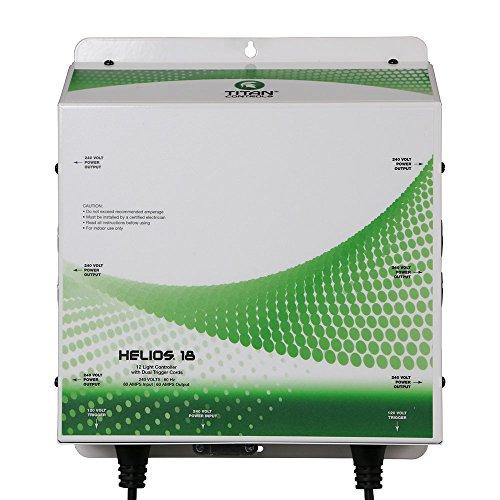 Titan ControlsHGC702843Professional Series Helios 18 - 12 Light 240 Volt Controller With Dual Trigger Cords, 240 VoltWhite