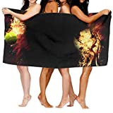 PdGAmats 31' X 51' Large Bath Towel Fantasy Tennis Balls High Absorbency Beach Towel