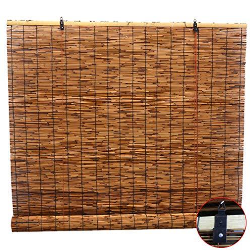 KDDEON Tenda a Lamella Tessute a Mano Naturali,Impermeabili Retro Tapparelle in Reed,Tenda a Rullo per Tenda da Sole,Personalizzabile,per Esterno/Interno/Patio/Balcone (50x60cm/20x24in)