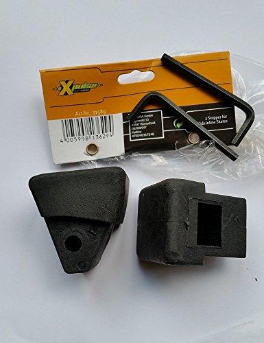 2 x hudora xpulse stopper Ersatzstopper für X-kids inline Skates 31589 , schwarz
