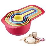 Westmark Set de cucharas medidoras de 6 piezas, Rangos de medición: 7.5 / 15/60/85/125/250 ml, Plástico, Sin BPA, matrioska, Multicolor, 30582270