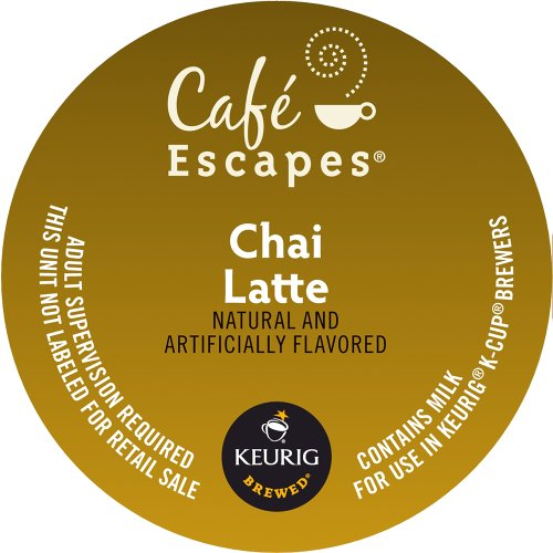 Keurig, Cafe Escapes, Chai Latte, K-Cup packs, 50 Count