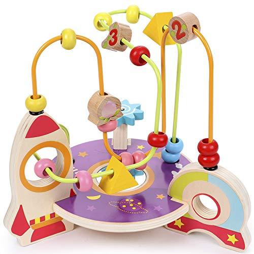 Lewo Bead Maze Wooden Baby Toddler Toys Roller Coaster Preschool...