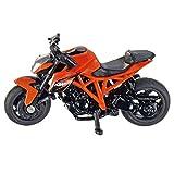 SIKU 1384, KTM 1290 Super Duke R Motorrad, Metall/Kunststoff, Orange, Bereifung aus Gummi -