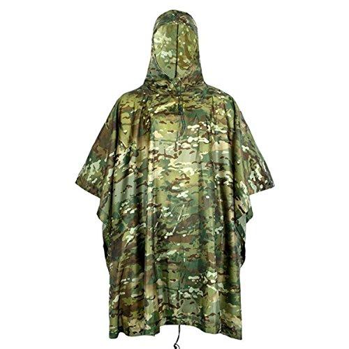 Outdoor militaire reizen camouflage waterdichte poncho rugzak regenbescherming tent mat voortent jacht camping wandelen
