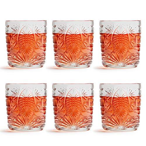 Libbey Copa de Vino Atik 230 ml/23 cl – 6 Unidades – Motivo Estrellado – Apto para Lavado en lavavajillas
