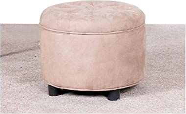 HongTeng Seating Footstool, Luxury Velvet Padded Single Bench Cover Grey Storage Stool Toy Box 18.518.516.5in