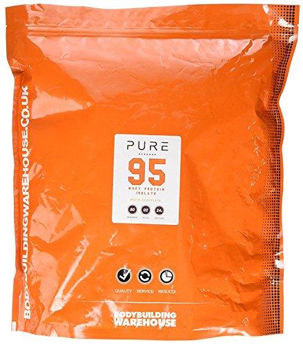 Bodybuilding Warehouse Pure Whey Protein Isolate 95 Powder White Chocolate 2 kg 2Kg