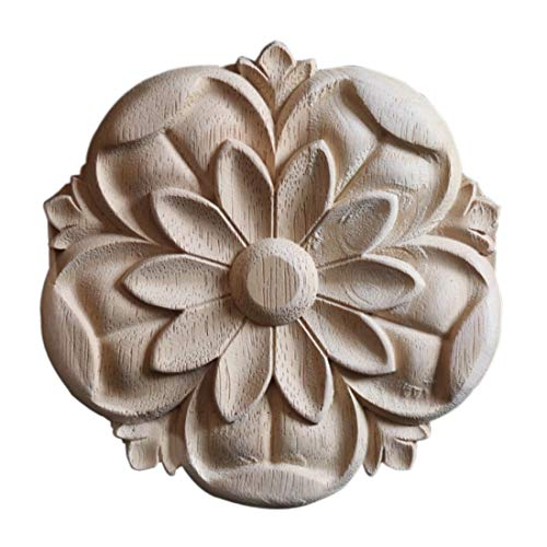 Surrui Holz Verzierung Schnitzerei Ornament Fenster Schrank Tür Möbel Ecke Dekoration Durchmesser 15 cm 15CM #1