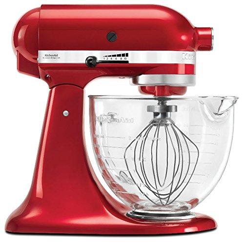 KitchenAid KED33A3 Batedeira Stand Mixer com com Bowl de Vidro, Vermelho (Candy Apple)