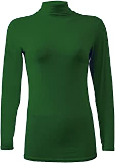Momo&Ayat Fashions Ladies Jersey Lightweight Long Sleeve Polo Neck Tshirt Top AUS Size 8-26