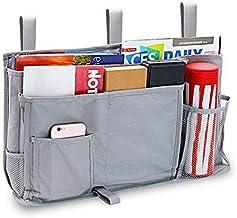 Large Poche de rangement pour lit, 8 Poches Organisateur de rangement suspendu pour livres, téléphones, tablettes, accesso...