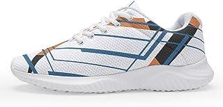 IOVEQG Mens Womens Geometry Air Cushion Non-Slip Sneakers Field Gym Shoes/Footwear for Boy