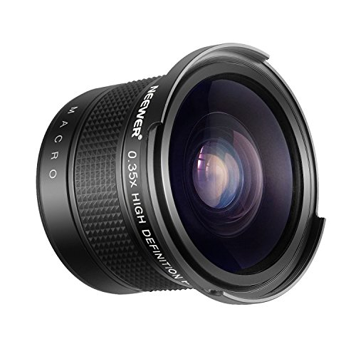 Neewer 55mm 0.35X Ojo de Pez Lente Angulo Ancho con Primer Plano Macro para Nikon D3400 D5600 Sony SLT-A99V,A99II,A99,A77II,A77,A68,A58,A57,A65,A55,A390,A100,A33,A900 DSLR Cámaras