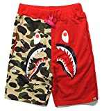 Bape Athletic Pants Shark Pattern Camo Bape Shorts Men Bape...