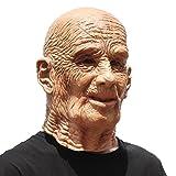 PartyHop Deluxe novità Halloween Costume Festa Latex Uomo Testa Maschera Vecchio Uomo