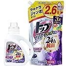 【セット品】トップ クリアリキッド抗菌 洗濯洗剤 液体本体900g+詰め替え ウルトラジャンボサイズ1900g