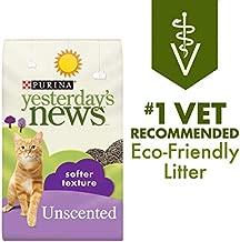 Purina Yesterday's News Non Clumping Paper Cat Litter, Softer Texture Unscented Cat Litter - 26.4 lb. Bag