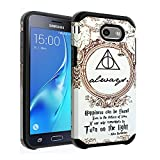 Galaxy J7 2017 Harry Potter Deathly Hallows Case, Galaxy J7 2017(AT&T), Galaxy J7 Sky Pro, Galaxy J7 Perx Case DURARMOR Dual Layer Hybrid Shockproof Slim Fit Armor Cover for Galaxy J7 V 2017 Always