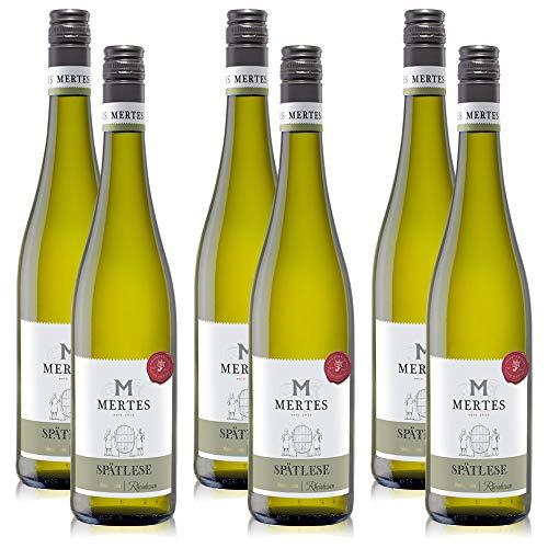 6 Flaschen Peter Mertes Spätlese Pfalz Prädikatswein Weisswein, süss, (6 x 0,75 l)