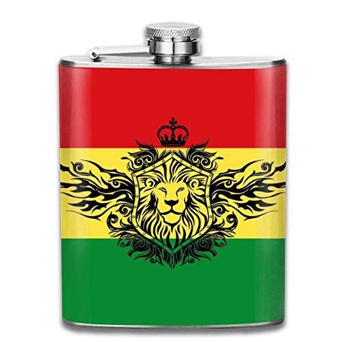 Whiskyflasche Flagge Von Äthiopien Outdoor Camping Flachschnapsflasche Alkohol Whisky Wein Flagon Becher Abriebfeste Topf Trinkbecher Für Reise Picknick