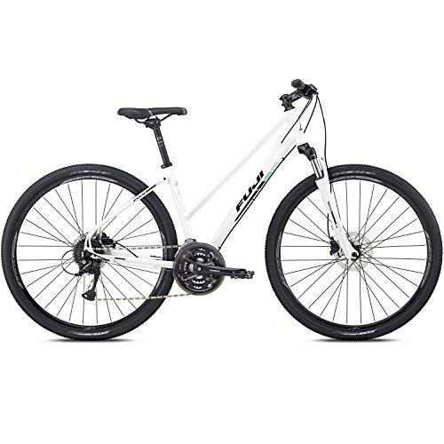 28 Zoll Crossrad Fuji Traverse 1.5 ST Cross Terrain Damen Fahrrad Trekking, Rahmengrösse:43 cm, Farbe:White