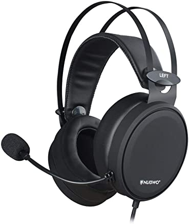 NUBWO Gaming headsets PS4 N7 Stereo Xbox one headset Wired PC Gaming Headphones with Noise Canceling Mic, Over Ear Gaming Headphones for PC/MAC/PS4/Xbox 1/Nintendo Switch/Mobile-Black