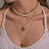 Chenfeng Collar Collar Monedas PearlQueen Mujer Cana clavícula Estilo Vintage Cana Jersey Varias Capas joyería Mujer Regalo cumpleaños Regalos Esposas Madres y Novias. Regalo de cumpleaños