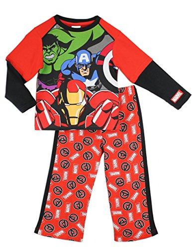 Marvel Avengers Jungen Hulk Ironman & Captain America Pajamas 140