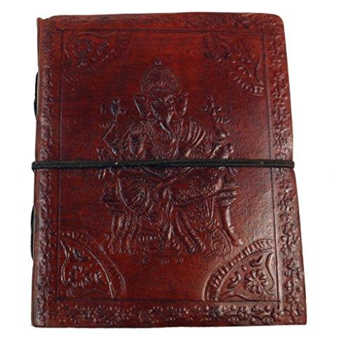 Guru-Shop Notizbuch, Lederbuch, Tagebuch - 12x15 cm, Braun, Notizbücher & Tagebücher