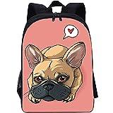 RomantiassLu Mochilas para niños Mochila escolar impresa en 3D dog backpack for kid Mochila Mochila Clásica para adolescentes niño niña camping y senderismo mochilas 16inch Mochila animal lindo