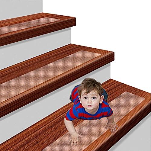 YISUN 15 x Antirutschstreifen Treppe Set Anti Rutsch Selbstklebende Stufenmatten Transparent Rutsch Streifen als Rutschschutz Treppenstufen Matten (15 * 80CM)