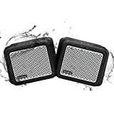 Best Bluetooth Speaker For Outdoors - (2Pack) Bluetooth Speakers, Zamkol Outdoor Bluetooth Speakers Waterproof Review