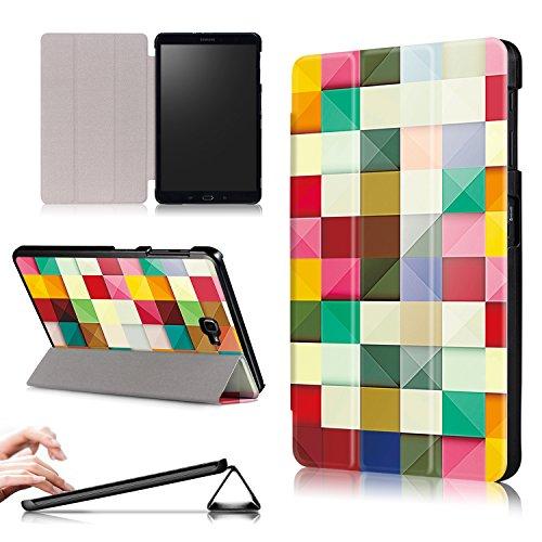 Xuanbeier Funda Compatible con Samsung Galaxy Tab A 10.1 SM-T580 T585 (Tab A6) con Soporte Función Auto-Sueño/Estela,Cubo