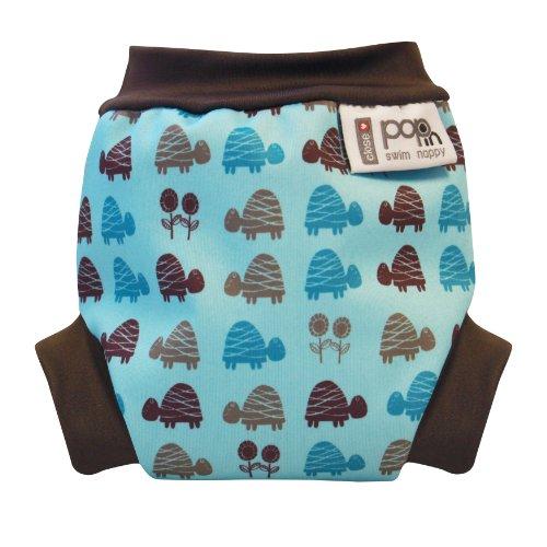 Cerrar Pop-in - Custom-panal del bebe, tamano S (3 kg o mas), ¿por que las tortugas, color: azul