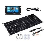 JVSISM 100W 18V Kit de Cargador de BateríA de Panel Solar Semi-Solar Flexible con Controlador