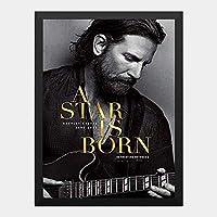 ハンギングペインティング - アリー スター誕生 A Star Is Born 2のポスター 黒フォトフレーム、ファッション絵画、壁飾り、家族壁画装飾 サイズ:33x24cm(額縁を送る)