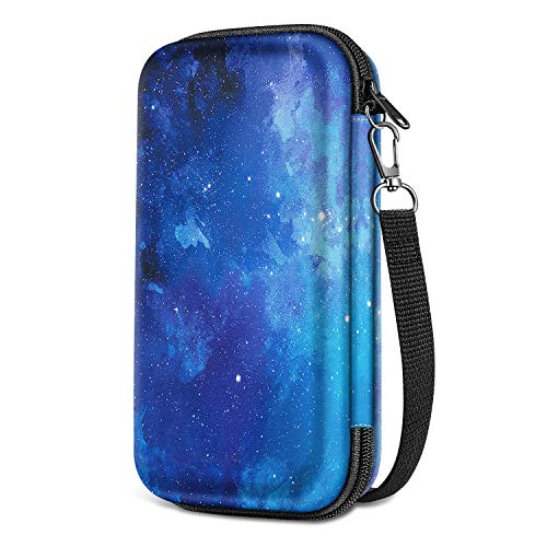Graphing Calculator Carrying Case for Texas Instruments TI-84 Plus CE, Fintie Hard EVA Shockproof Travel Protective Box (Starry Sky)