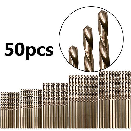 Kobalthaltiger M35-Spiralbohrersatz Edelstahl Spezialmetall Eisen Stahlplatte Bohrer HSS-Bohrer 50 HSS-Bohrer-Befestigungswerkzeug für Edelstahl