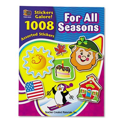 Sticker Book, For All Seasons, 1,008/Pack, Sold as 1008 Each